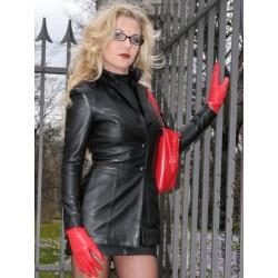 Leather blazer DS-622 black