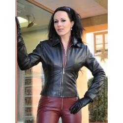 Leather blouson SJW-003 black