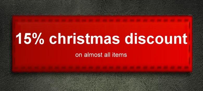 15% christmas discount