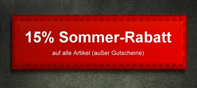 15% Sommer-Rabatt